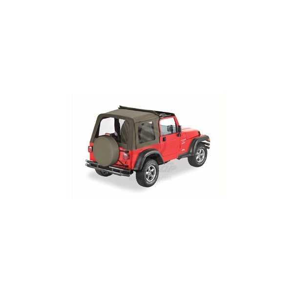 Capotage sunrider Bestop® kaki Jeep Wrangler TJ 03-06