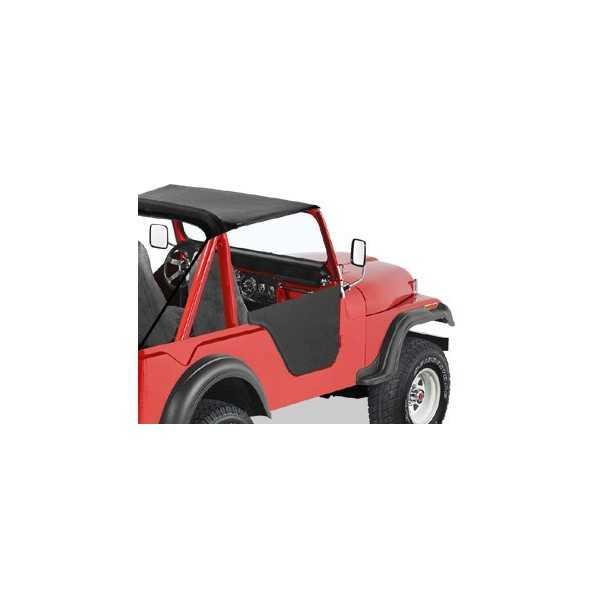 Jeu de demi-portes BESTOP noire Jeep CJ-7 76-86, CJ-8, Scrambler