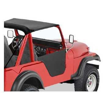 Jeu de demi-portes Bestop® noire Jeep CJ-7 1976-1986, CJ-8, Scrambler