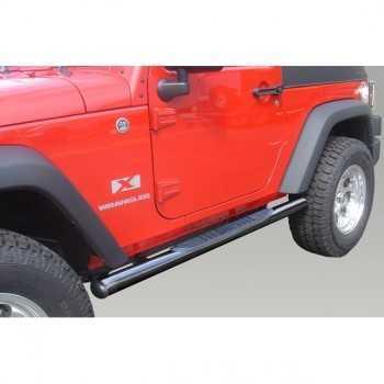 Marche pieds noir Jeep Wrangler JK 2 portes 2007-2018