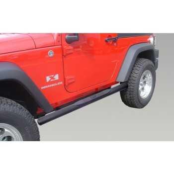 Marche pieds noir ovales Jeep Wrangler JK 2 portes 2007-2017