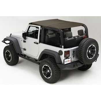 Bikini island toppers kaki Jeep Wrangler JK 2007-2009 2 portes