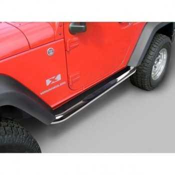 Marche pieds inox Jeep Wrangler JK 2007-2018 2 portes