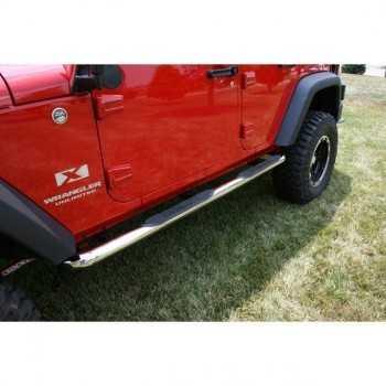 Marche pieds inox Jeep Wrangler JK 2007-2018 4 portes