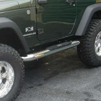 Marche pieds inox 101 mm Jeep Wrangler JK 2 portes 2007-2018