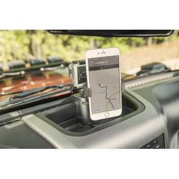 Support téléphone portable sur tableau de bord Jeep Wrangler JK 2011-2018