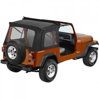 Capotage Sunrider Bestop® Noir Jeep Wrangler YJ et Jeep CJ7 76-95