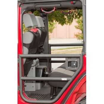 jeu de demi portes arrière tubulaire Jeep Wrangler JK 2007-