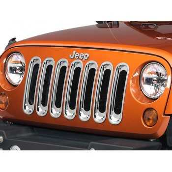Enjoliveur de calandre chromé Jeep Wrangler JK 2007-2017
