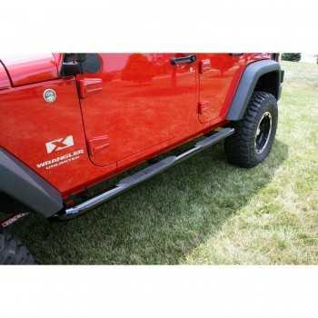 Marche pieds noir Jeep Wrangler JK 4 portes 2007-2017