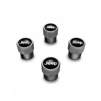 Jeu de 4 bouchons de valve avec logo JEEP