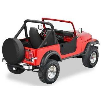 Jeu de demi-portes Bestop® noire Jeep Wrangler YJ 1987-1995