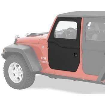 Jeu de demi-portes avant Bestop® noire Jeep Wrangler JK 2007-2018