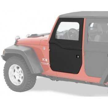 Jeu de demi-portes Bestop® avant noire Jeep Wrangler JK 2007-2018