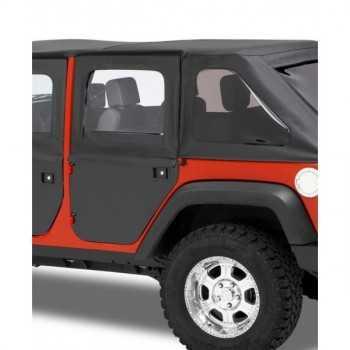 Jeu de demi-portes Bestop® noire Jeep Wrangler JK 2007-2018