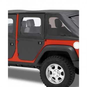 Jeu de demi-portes Bestop® arrière noire Jeep Wrangler JK 2007-2018