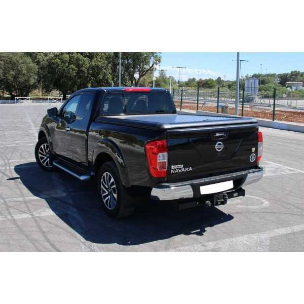 tonneau cover alu noir nissan navara king cab np300 2016 cash 4x4 equipements. Black Bedroom Furniture Sets. Home Design Ideas