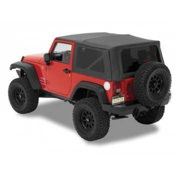 Capotage bestop® Supertop® nx tissu sergé noir Jeep Wrangler JK 2007-2018 2 portes