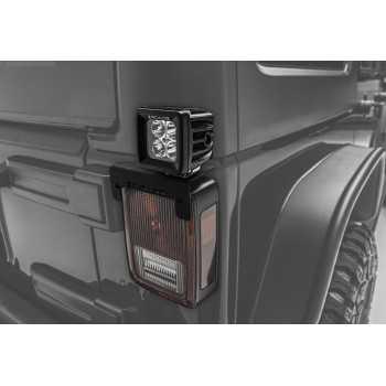 Support de phare sur feux arriere Jeep Wrangler JK 2007-2018