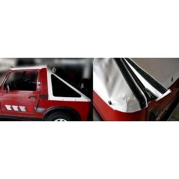 Capotage fastback blanc Suzuki Santana 410-413