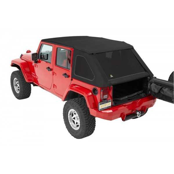 Capotage Bestop® Trektop NX tissu sergé noir Jeep Wrangler JK 4 Portes 07-18