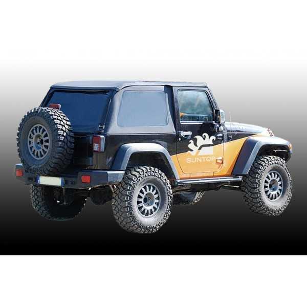 Bâche suntop ultimate U2 noir Jeep Wrangler JK 2007-2018