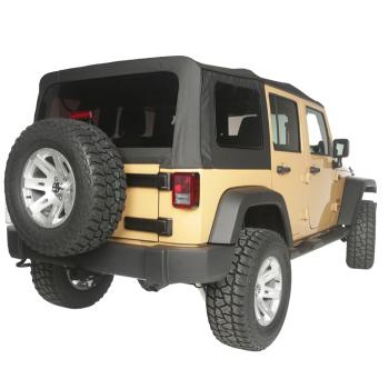 Capotage de remplacement RUGGED RIDGE noir Jeep Wrangler JK 4 Portes DE 2010-2018