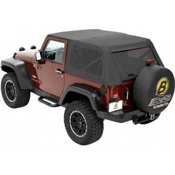 Capotage Bestop® trektop noir Jeep Wrangler JK 2007-2018