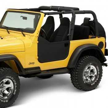 Jeux de demi-portes BESTOP noire Jeep Wrangler TJ 97-06
