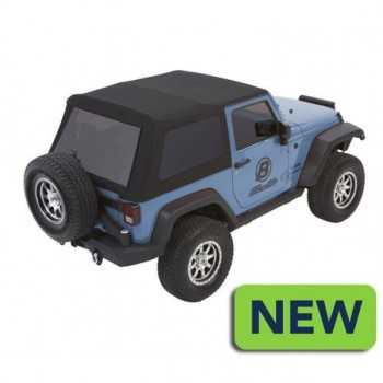 Capotage Bestop® trektop nx glide noir twill Jeep Wrangler JK 2 Portes 07-18