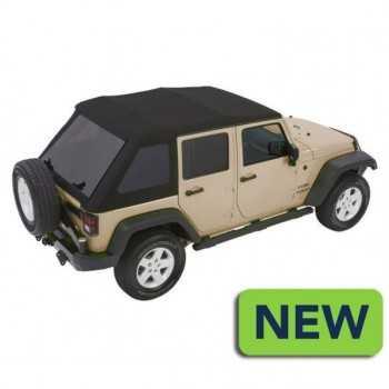 Capotage Bestop® trektop nx glide noir twill Jeep Wrangler JK 4 Portes 2007-2018