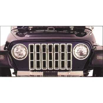 Enjoliveur de calandre chromé Jeep Wrangler TJ 1997-2006