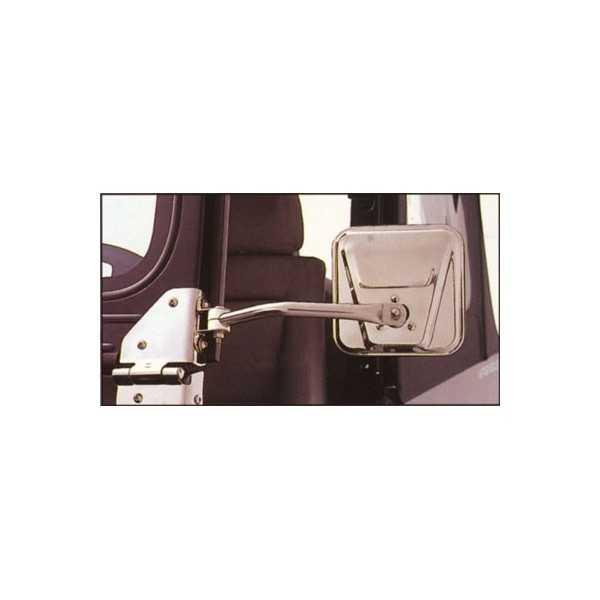 RETROVISEUR INOX WRANGLER YJ ET CJ 1976-95