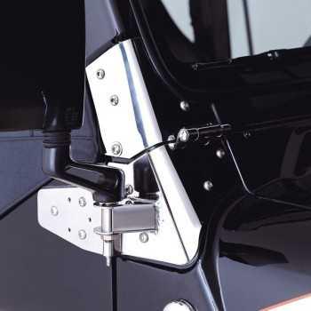Support de rétroviseur inox jeep  Wrangler TJ 97-02