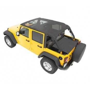 Bikini® Top safari mesh Jeep Wrangler JK 2010-2018 4 portes