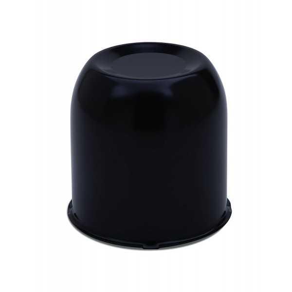 Cache moyeu noir fermé diamètre 107 mm