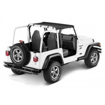 Bikini sun cap PAVEMENT ENDS noir Jeep Wrangler TJ 1997-2002