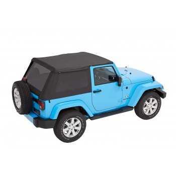 Capotage Bestop® trektop nx plus noir Jeep Wrangler JK 2 Portes 07-18