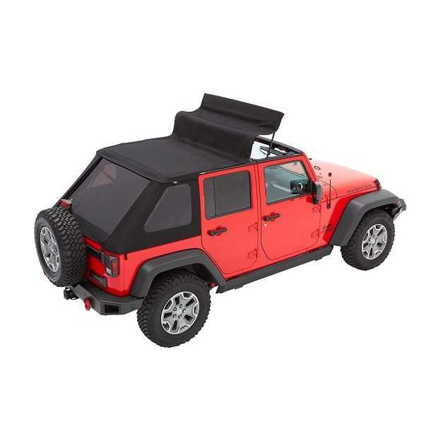 Capotage Bestop® Trektop NX plus noir Jeep Wrangler JK 2007-2018