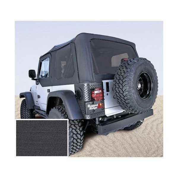 Capotage de remplacement RUGGED RIDGE noir Jeep Wrangler TJ 1997-2006