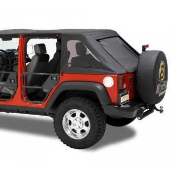 Jeu de demi portes arriere BESTOP tubulaire Jeep Wrangler JK 2007-2018
