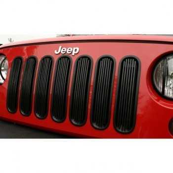 Enjoliveur de calandre aluminium noir Jeep Wrangler JK 2007-2018