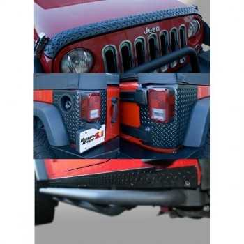Kit de protection strie noir Jeep Wrangler JK 4 Portes 2007-2018