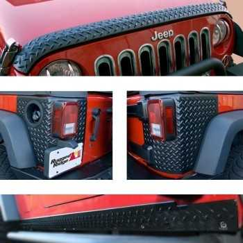 KIT DE PROTECTION STRIE NOIR JEEP WRANGLER 2007-2018 2 portes